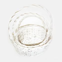 Καλάθι λευκό (σετ 3)