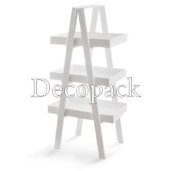 Σκαλιέρα Λευκή 3 επίπεδα