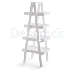 Σκαλιέρα Λευκή 4 επίπεδα